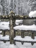 雪风景在冬天 库存图片