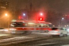 雪风暴在多伦多 库存图片