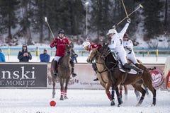雪马球世界杯Sankt莫里茨2016年 免版税库存图片