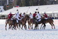 雪马球世界杯Sankt莫里茨2016年 库存照片