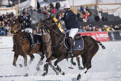 雪马球世界杯Sankt莫里茨2016年 免版税库存照片