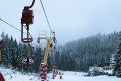 滑雪驾空滑车 免版税图库摄影