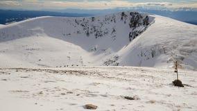雪,冬天山在保加利亚 库存照片