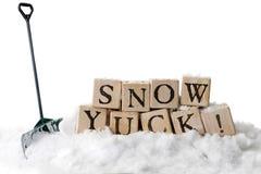 雪, Yuck! 库存照片