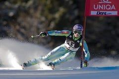 滑雪:Lienz巨人障碍滑雪 免版税库存照片