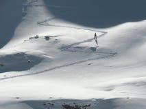 滑雪登山滑雪者 免版税库存图片