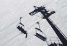 滑雪阴影 图库摄影