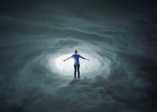雪洞穴称赞 免版税库存照片