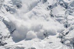 雪崩雪 库存图片