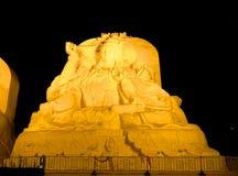雪Budda在哈尔滨,中国, Hei渴望省 图库摄影