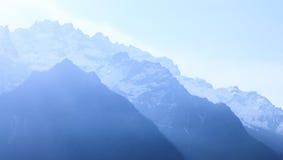 雪moutain在北部锡金,印度 免版税库存照片