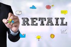 零售(购买资本主义顾客)的购物 免版税库存图片