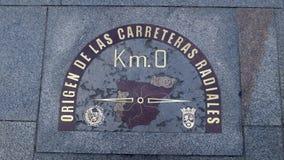 零的公里在马德里 库存图片