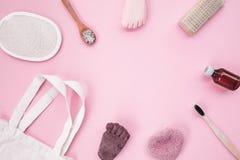 零的废化妆用品产品 免版税库存图片