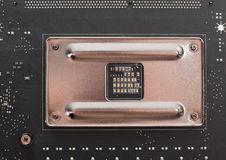 以零件和组分为目的计算机主板 库存照片