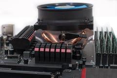 以零件和组分为目的计算机主板 免版税库存照片