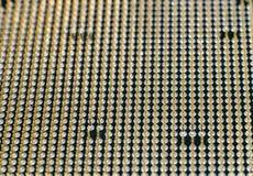 以零件和组分为目的计算机主板 免版税图库摄影