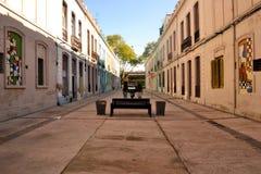 雷乌斯邻里,蒙得维的亚,乌拉圭 免版税库存图片