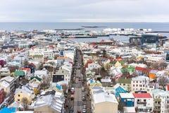 雷克雅未克冰岛看法  免版税库存图片