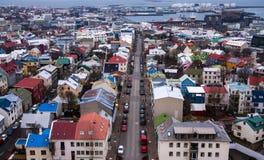 雷克雅未克在冰岛 免版税库存照片