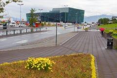 雷克雅未克,冰岛- 2014年8月2日 免版税库存图片