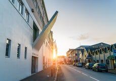 雷克雅未克, ICELAND/NOVEMBER 01,2017 :现代艺术博物馆  免版税库存图片