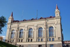 雷宾斯克状态历史和建筑博物馆储备 免版税库存图片