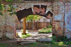 雷宾斯克镇,俄罗斯建筑学  老围场 库存照片