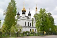 雷宾斯克,俄罗斯 以纪念上生的教会1811 雅罗斯拉夫尔市地区 库存图片