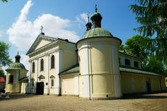 洛雷托省的我们的夫人的教会在华沙,波兰 库存照片