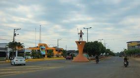 洛雷托省,奥雷利亚纳/厄瓜多尔- 2016年1月16日:洛雷托省镇的看法在厄瓜多尔亚马逊 库存照片