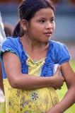 洛雷托省,秘鲁- 1月02 :未认出地方孩子摆在 库存照片
