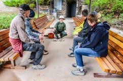 雷曼使游览-大盆地国家公园陷下-贝克,内华达 库存图片