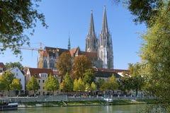 雷根斯堡大教堂,德国 图库摄影