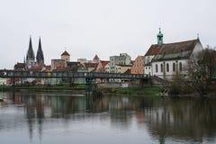雷根斯堡是一个老德国城市 免版税库存图片