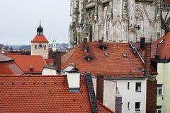 雷根斯堡是一个老德国城市 库存照片
