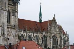 雷根斯堡是一个老德国城市 库存图片