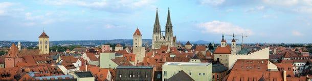 雷根斯堡,德国全景  免版税图库摄影