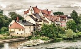 雷根斯堡-德国的建筑学 免版税库存照片