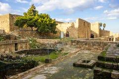 雷梦de圣吉莱城堡在的黎波里,黎巴嫩 免版税库存照片