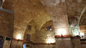 雷梦de圣吉莱,黎巴嫩的黎波里或城堡烈士城堡的内部  图库摄影