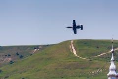 雷电2个A-10 Warthog 图库摄影