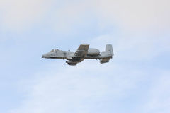 A-10雷电II在显示 图库摄影