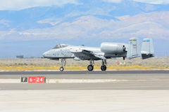 A-10雷电II在显示 免版税图库摄影