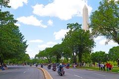 雷美国人POWs和MIA战士的摩托车乘驾2014年5月25日在华盛顿特区,美国 库存照片