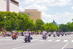 雷美国人POWs和MIA战士的摩托车乘驾 免版税图库摄影