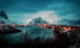 雷讷挪威 免版税库存照片