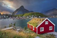 雷讷,挪威 库存照片