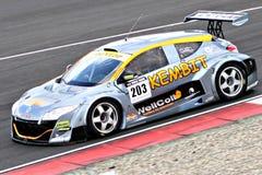 雷诺在TT电路阿森,德伦特省,荷兰,荷兰的Megane Racecar 免版税库存照片