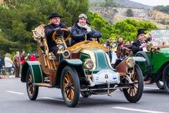 雷诺轴,第60编辑国际葡萄酒汽车rallye巴塞罗那-锡切斯 库存照片